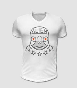 Alien T-Shirt Druck, Textildruck