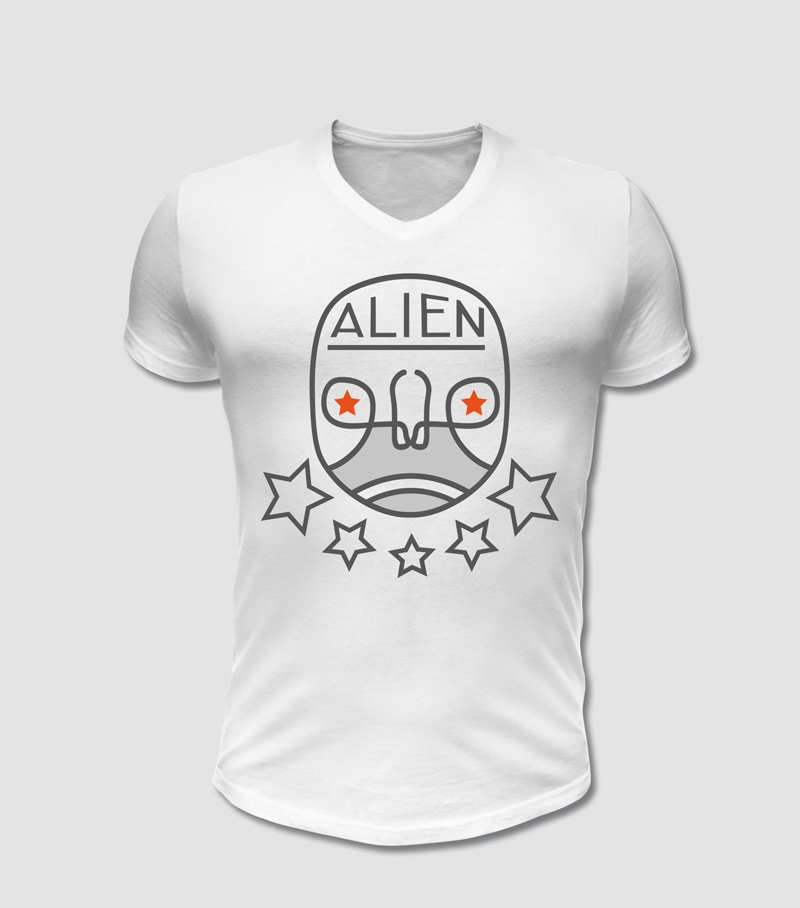 Alien T-Shirt Druck