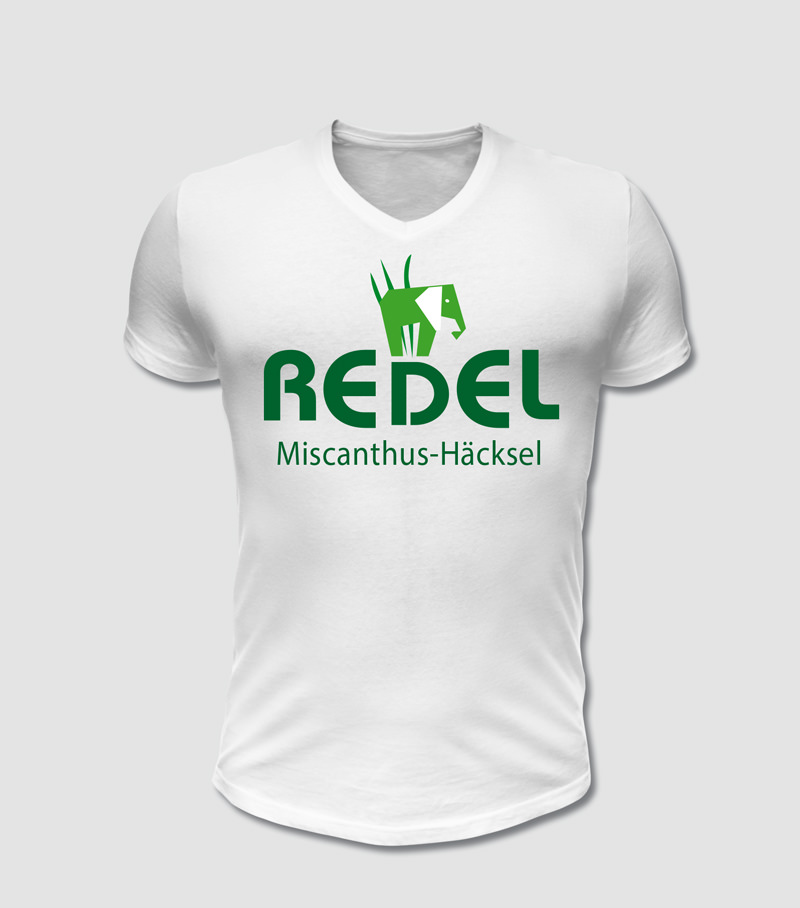 Firmen- und Vereins T-Shirt bedruckt mit Ihrem eigenem Motiv Redel Mischanthus