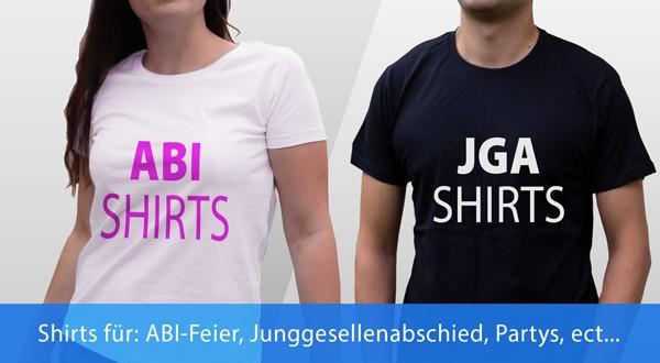 Abi T-Shirts und Junggesellen T-Shirts bedrucken lassen