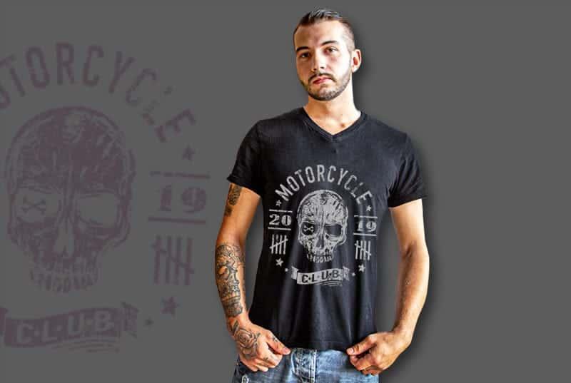 Biker, Motorrad T-Shirt bedruckt mit deinem Motiv