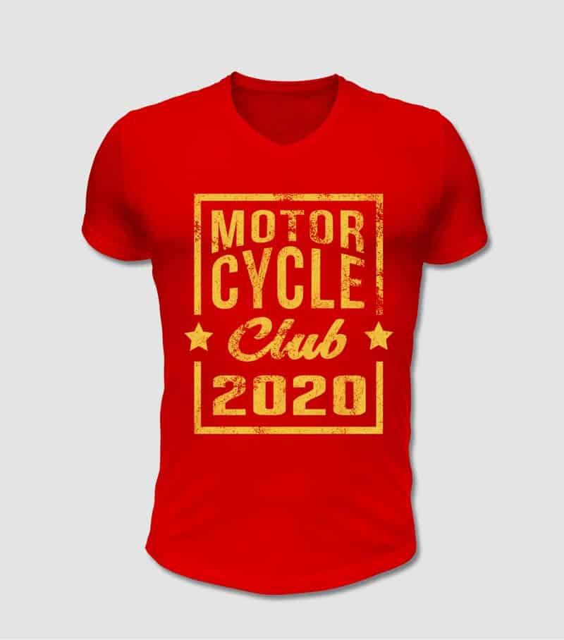 Biker und Motorrad Club T-Shirt im Retro Stil