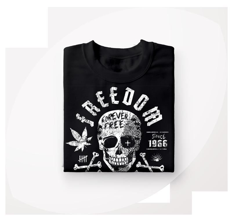 7Pain T-Shirt mit Totenkopf Motiv