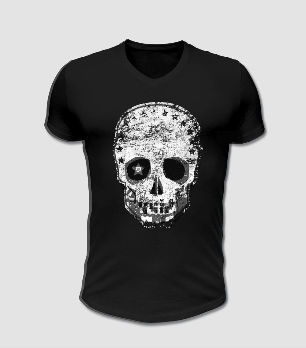 Biker T-shirt Totenkopf Motiv