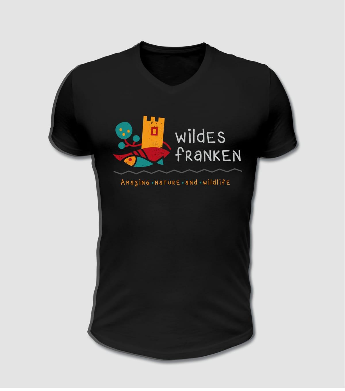 Wildes Franken T-Shirt für Tourismus und Wanderer der Fränkische Schweiz