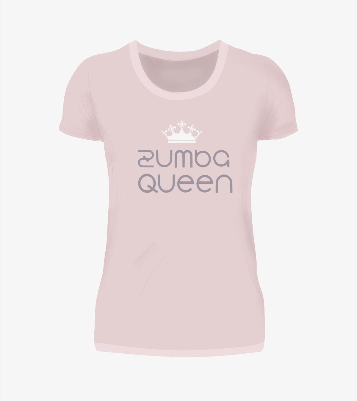 Zumba Dance Queen T-Shirt in rosa