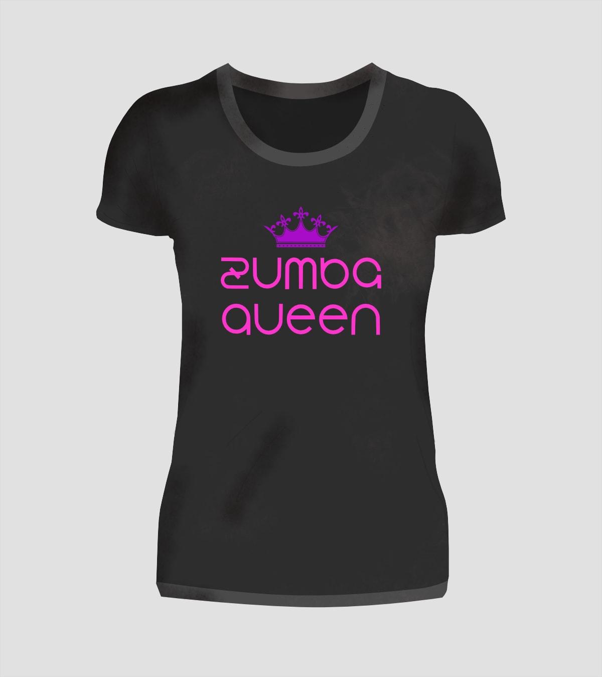 Zumba Dance Queen T-Shirt in Schwarz